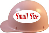 MSA Skullgard (SMALL SIZE) Cap Style Hard Hats with Ratchet Suspension - Light Pink - Left Side View