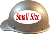 MSA Skullgard (SMALL SIZE) Cap Style Hard Hats with Ratchet Suspension - Silver - Left Side View
