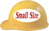 MSA Skullgard (SMALL SIZE) Cap Style Hard Hats with Ratchet Suspension - Yellow - Left Side View