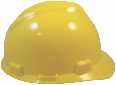 MSA V-Gard Cap Style with One Touch Suspensions - Yellow (Older Dates) Right Side View