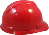 MSA V-Gard Cap Style with One Touch Suspensions - Red (Older Dates)