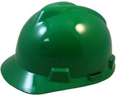 MSA V-Gard Cap Style with Fas-Trac III Suspensions - Green (Older Dates)