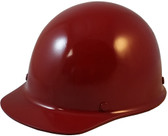 MSA Skullgard Cap Style With STAZ ON Suspension Maroon - Oblique View