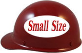 MSA Skullgard (SMALL SIZE) Cap Style Hard Hats with Ratchet Suspension - Maroon - Left Side View