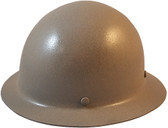 MSA Skullgard Full Brim Hard Hat with FasTrac III Ratchet Suspension - KHAKI - Oblique View