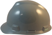 MSA V-Gard Cap Style Hard Hats with Staz-On Suspensions Gray  - Left Side View