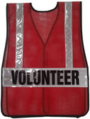 Dark Red Soft Mesh Vests Printed with Silver Stripes - Back View