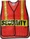 Red Soft Mesh Vests Printed Safety with Lime Stripes - Front View