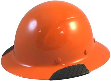 Actual Carbon Fiber Hard Hat - Full Brim High Vision Orange  - Oblique View