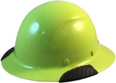 Actual Carbon Fiber Hard Hat - Full Brim High Vision Lime - Oblique View