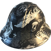 Honor The Fallen Hydro Dipped Hard Hats Full Brim Style
