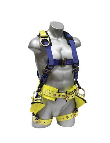 Elk River Oil Riggers Harness Kit, 4 D-Rings- Front View