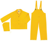MCR Classic FR Rainsuits, 35 Mil Yellow PVC 3 piece Rainsuit- Size Large