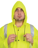 MCR Luminator 40 mm, PVC 2 Piece Class III Rain Coat Yellow with Silver Stripes- Size 2XL