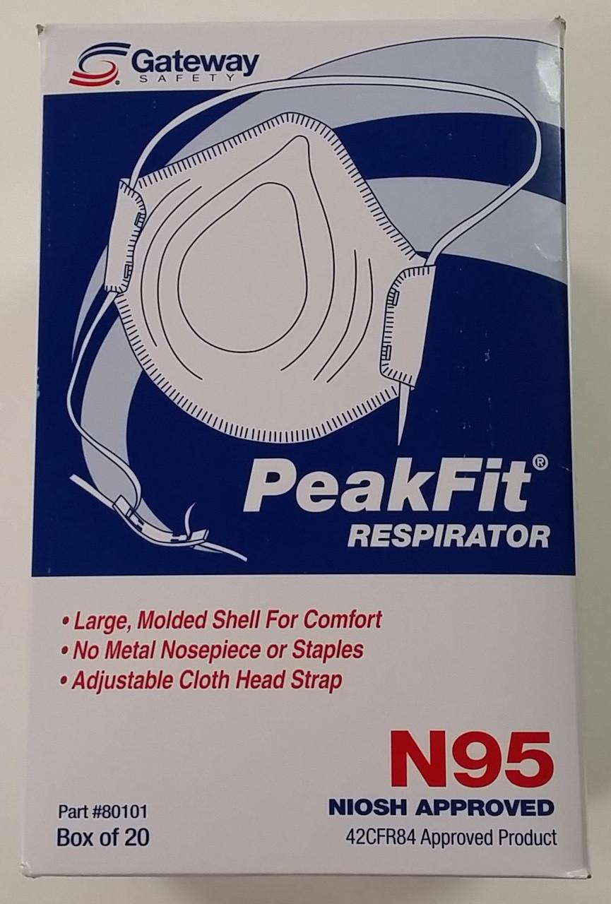 Gateway PeakFit Unvented N95 Respirator (20 per box)