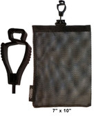 Glove Guard Bag 7 inch x 10 inch Black Pic 1