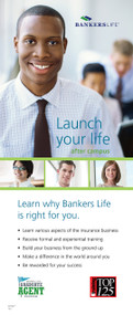 Bankers Life College Recruiting Launch Your Life Retractable Banner Display