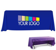 Custom Trade Show Table Drape with Logo