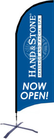 Hand and Stone NOW OPEN Razor Flag