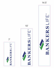 Bankers Life Rectangular Feather Flag