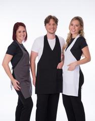 Carolyn Design Women V-Neck Apron Sku:30023-Women
