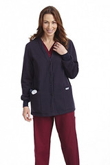 Mobb Button Front Fleece Warm-up Jacket Sku:WJF350