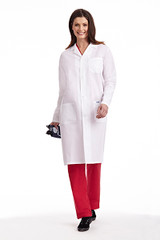 Mobb Full Length Unisex Lab Coat with Buttons Sku:L406