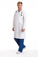 Mobb Full  Length unisex Lab Coat with Snaps Sku:L407