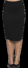 Joanne Martin Long skirt with back pleat Sku:432