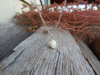 Modern Sterling Silver Breast Milk Pendant