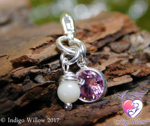 Dangling Breast Milk Charm for European or Traditional Charm Bracelets