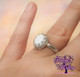This gorgeous breast milk ring is a  stunning symbol of perfect love and the eternal bond between mother and child.