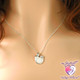 Mother, Father, and Children embrace in this beautiful breast milk pendant made using a mother's own breast milk. This is a truly unique and loving piece of breast milk jewelry!