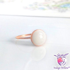 Modern Breast Milk Ring in Solid Gold