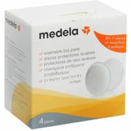 Medela Bra Pads 100% Cotton (4 Pack)