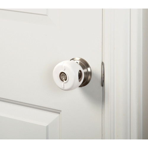 The KidCo® Door Knob Covers help keep little ones from opening doors and enteringleaving rooms. Easy installation; no tools required – snaps tightly around the door knob. Door knob removal not needed.