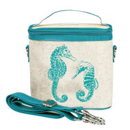 SoYoung Small Insulated Cooler Bag - Aqua Seahorses