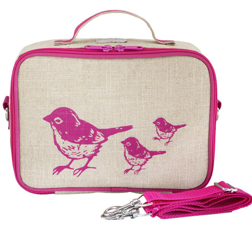 SoYoung Insulated Lunch Box - Pink Birds