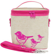 SoYoung Small Insulated Cooler Bag - Pink Birds