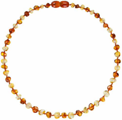 Baltic Amber Necklace- Lemon/Cognac Colour - 32cm