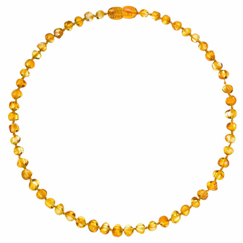 Baltic Amber Necklace - Honey Colour - 32cm