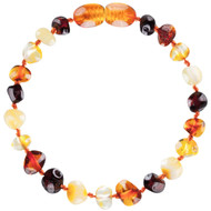 Baltic Amber Bracelets - Multi 4 Colours - 14cm
