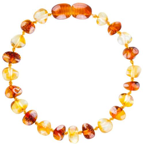 Baltic Amber Bracelets - Lemon/Cognac Colour - 14cm