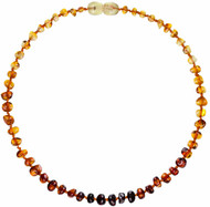 Baltic Amber Necklace- True Rainbow Color-32cm