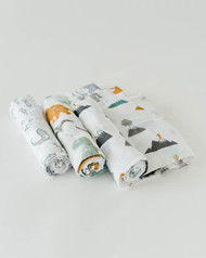 Cotton Swaddle 3 Pack Dino Friends