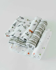 Cotton Swaddle 3 Pack Forest Friends