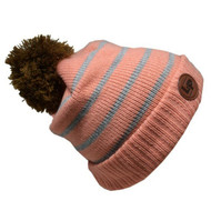L&P Bobble Knitted Touque - Old Pink