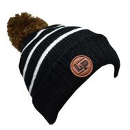 L&P Bobble Knitted Touque - Black