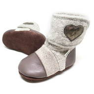 Nooks Design Felted Wool Booties - Latte