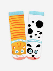 Pals Socks 1-3 Cat and Dog
